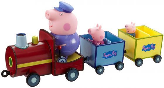 Игровой набор Peppa Pig Паровозик дедушки Пеппы, со звуком 4 предмета 15563 пазл origami peppa pig транспорт 4 в 1