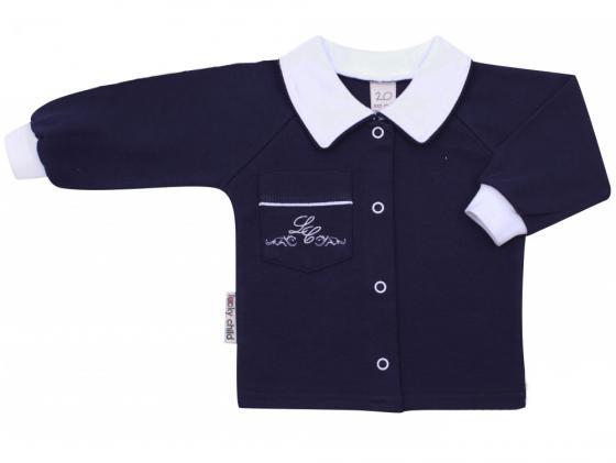 Кофточка детская (арт. 20-20/темно-синий) (размер 18 (56-62)) кофточка арт 3 20 размер 20 62 68