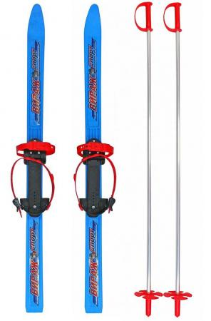 Лыжи детские Пингвин-Вираж-Спорт с палками синий цикл лыжи детские быстрики цикл