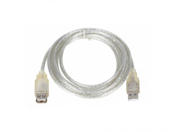 Кабель удлинительный USB 2.0 AM-AF 5.0м VCOM Telecom прозрачная изоляция VUS6936-5MTP кабель удлинитель usb 2 0 am af 1 8m telecom прозрачная голубая изоляция vu6956