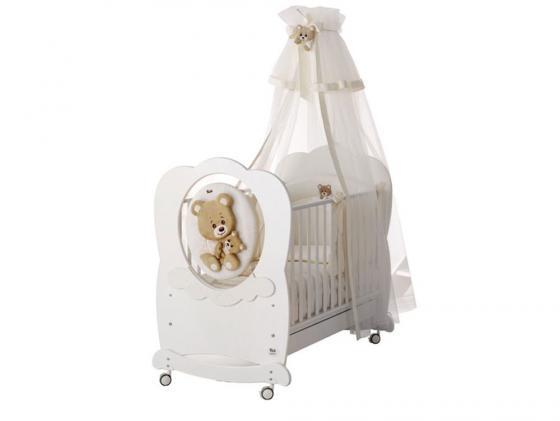 Кроватка-качалка Baby Expert Abbracci-Trudi (белый) аксессуары для детской комнаты baby expert полка вешалка abbracci by trudi