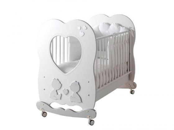 Кроватка-качалка Baby Expert Cuore di Mamma (белый) roman baby панно на стену roman baby cuore di mamma арт 6008