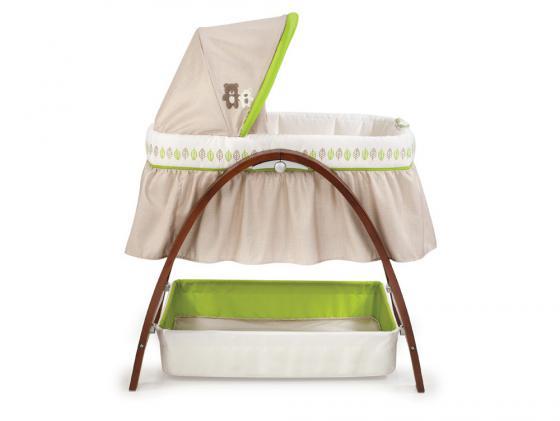 Кроватка-люлька Summer Infant BentWood (темное дерево) summer infant люлька summer infant bentwood с электронной системой укачивания