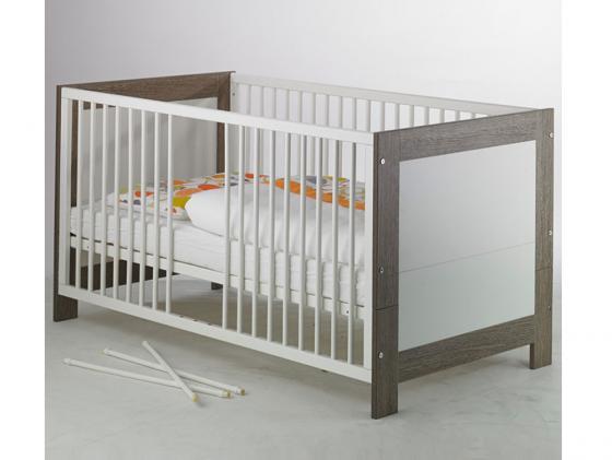 Кроватка-трансформер Geuther Marlene (бело-серый)