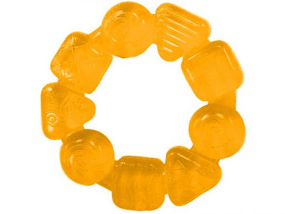 Прорезыватель Bright Starts Карамельный круг с 3 месяцев желтый bright starts прорезыватель динозаврик желтый 52029 2