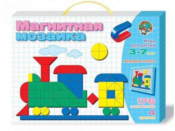 Мозайка мягкая 176 элементов Десятое королевство магнитная Паровозик 01479 магнитная мозайка 312 элементов десятое королевство рыбка 01652