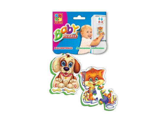 Пазл на магните 6 элементов Vladi toys Беби пазлы Домашние любимцы VT3208-02