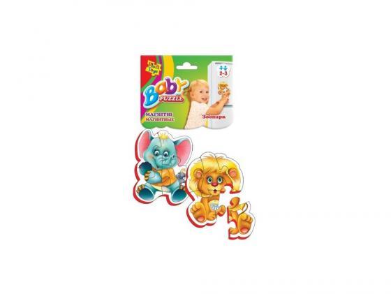 Пазл 9 элементов Vladi toys магнитный Зоопарк VT3208-01