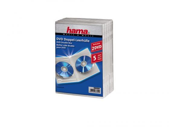 Коробка HAMA для 2 DVD пластик прозрачный 5шт H-83894