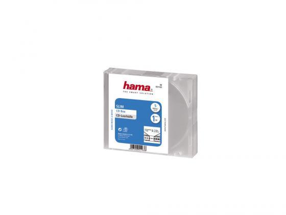 Коробка HAMA для 1 CD прозрачный 5шт H-51163 cd диск guano apes offline 1 cd