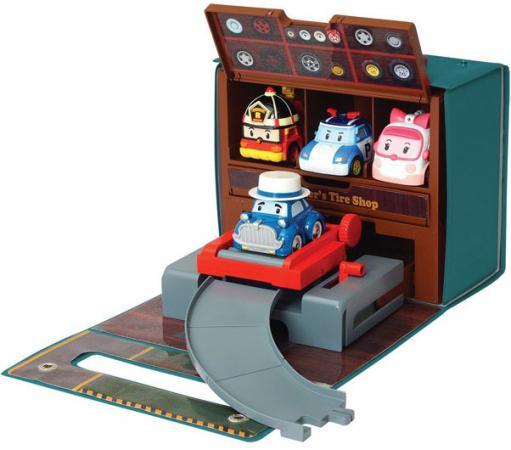 Игровой набор Poli Robocar Мастерская Уиллера (без машин) 83247 набор игровой для мальчика poli цементный завод
