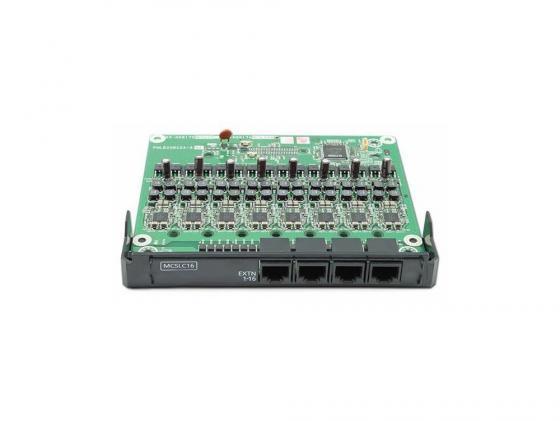 Плата расширения Panasonic KX-NS5174X 16-портовая аналоговых внутренних линий MCSLC16 PRI30/E1 атс panasonic kx tem824ru аналоговая 6 внешних и 16 внутренних линий предельная ёмкость 8 внешних