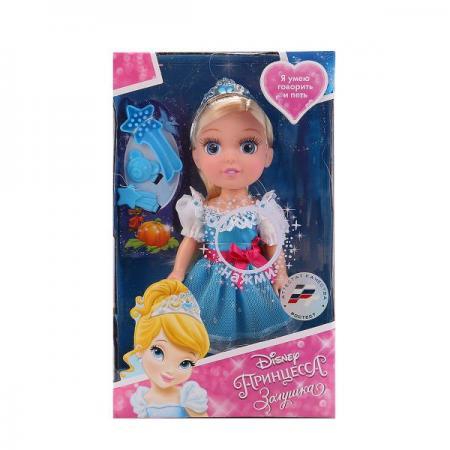 Кукла Карапуз Disney Princess: Золушка 15 см музыкальная говорящая поющая CIND002 куклы карапуз кукла принцесса золушка