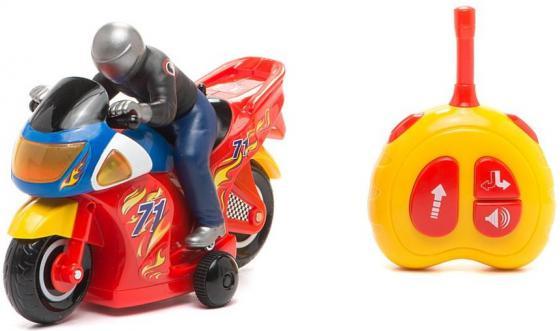 Мотоцикл на радиоуправлении Kiddieland Гонщик красный от 3 лет пластик KID051342 военный автомобиль на радиоуправлении tongde в72398 пластик от 3 лет зелёный