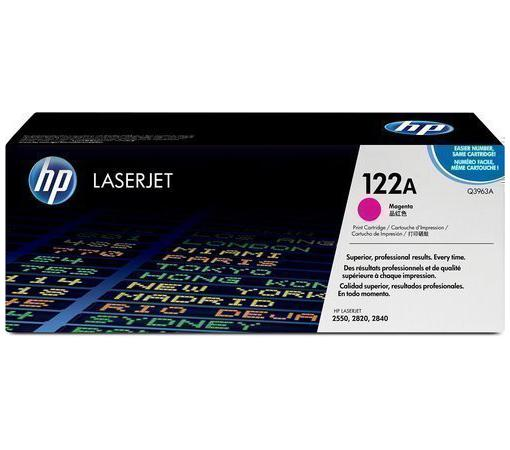 Картридж HP Q3963A №122А для LaserJet 2550 2820 2840 пурпурный color toner cartridge q3960a q3961a q3962a q3963a for hp color laserjet 1500 1550 2500 2550 2800 2820 2840 printer