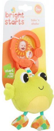 Развивающая игрушка Bright Starts Дрожащий дружок, Лягушка развивающая игрушка bright starts дрожащий дружок лягушка с вибрацией 8808 7