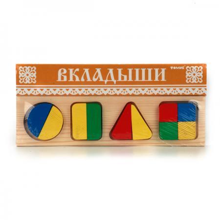 Доска-вкладыш Томик Геометрия Большая 11 элементов 322
