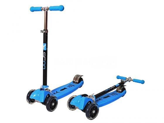 Самокат трехколёсный Y-SCOO RT Maxi city Simple Gagarin синий Трансформер 4955 самокат трехколёсный y scoo maxi city rt shine gagarin синий 4972