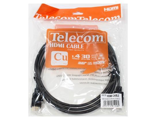 Кабель HDMI 2.0м VCOM Telecom 2 фильтра позолоченные контакты CG511D-2M кабель hdmi 20м vcom telecom v1 4v позолоченные контакты 2 фильтра vhd6020d tc 20mc cg511d carton