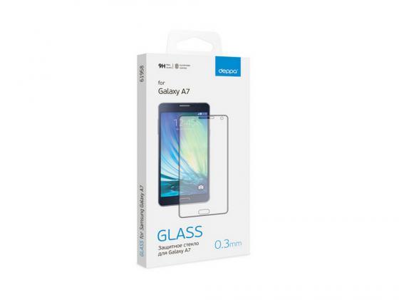 Защитное стекло Deppa для Samsung Galaxy A7 0.3 мм прозрачное 61989 защитное стекло deppa 3d для samsung galaxy a5 2017 0 3 мм черный 62291