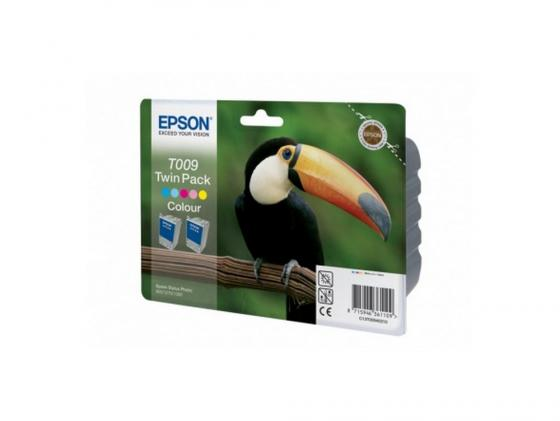 Картридж Epson T009402 для Epson St.Photo 900/1270/1290 Color 2-pack картридж epson t00940210 для stylus photo 900 1270 1290c double pack 2 шт уп