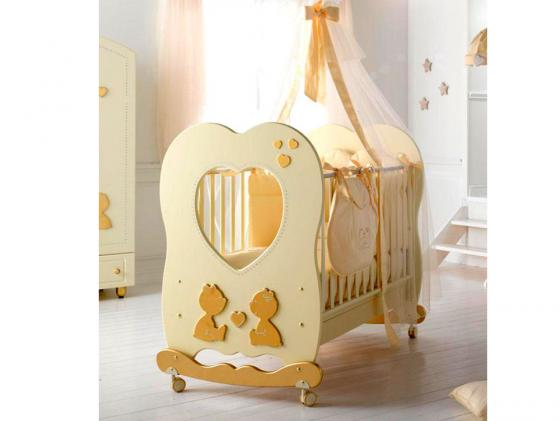 Кроватка-качалка Baby Expert Cuore di Mamma (крем) кровать baby expert кровать baby expert abbracci by trudi крем
