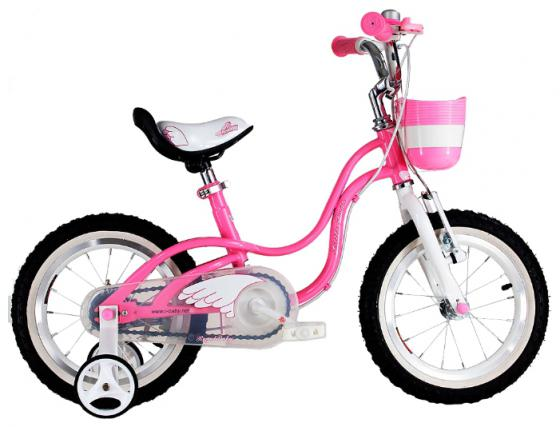 "Велосипед двухколёсный Royal baby Little Swan Steel 14"" розовый RB14-18"