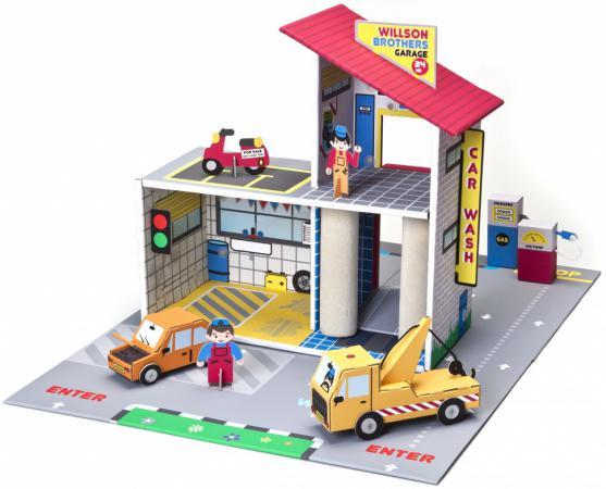 Игровой набор Krooom Детский гараж Уилсон Бразерс 43 см разноцветный -303