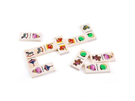 Настольная игра домино Томик Игрушки (28 костяшек) 5555-3 настольная игра томик домино игрушки 28 костяшек 5555 3