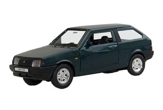 Автомобиль Welly Lada 2108 1:34-39 зеленый 42377 welly lada 2108 1 34 39