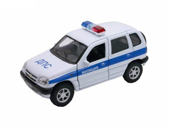Автомобиль Welly Chevrolet Niva МИЛИЦИЯ ДПС 1:34-39 автомобиль welly 2001 chevrolet suburban 1 34 39 42312w