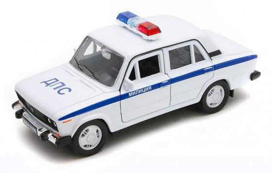 Автомобиль Welly Lada 2106 Милиция ДПС 1:34-39 белый 42381PB автомобиль welly lada 2108 милиция дпс 1 34 39