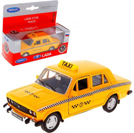 Автомобиль Welly LADA 2106 ТАКСИ 1:34-39 welly lada 2108 1 34 39