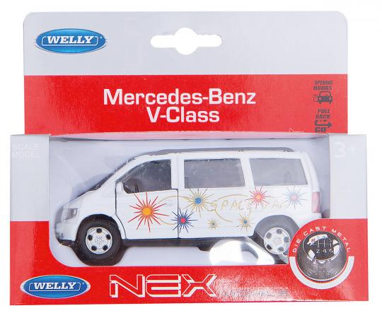 Автомобиль Welly MB V-CLASS 1:34-39 49736 welly 49736 велли модель машины 1 34 39 mb v class