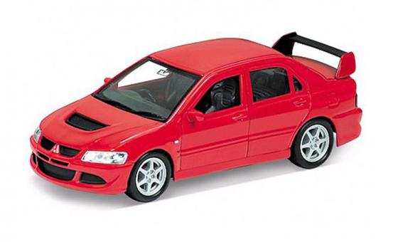Автомобиль Welly MITSUBISHI LANCER EVOLUTION VIII 1:34-39 красный 42338 автомобиль welly bmw 654ci 1 18 красный