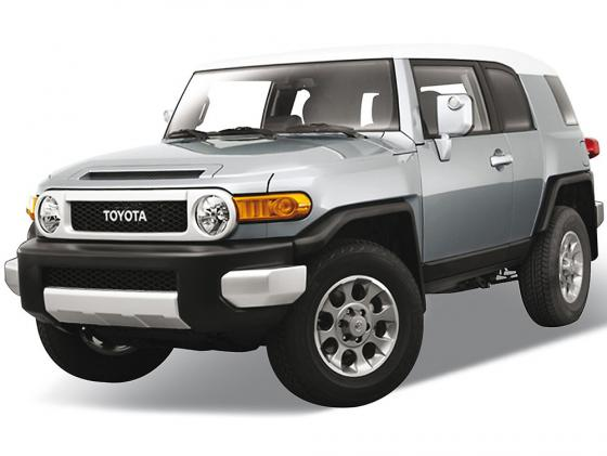 Автомобиль Welly Toyota FJ Cruiser 1:34-39 серебристый 43639 машинка welly toyota fj cruiser big wheel monster 47003s