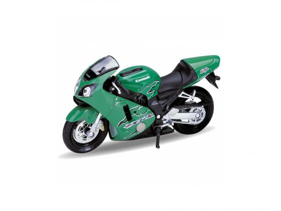 Мотоцикл Welly Kawasaki 2001 Ninja ZX-12R 1:18 12167P машины welly модель мотоцикла 1 18 motorcycle kawasaki 2001 ninja zx 12r