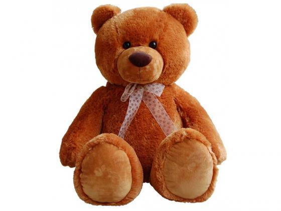 Мягкая игрушка медведь Aurora сидячий 70 см коричневый плюш