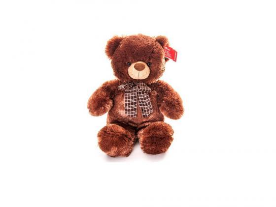 Мягкая игрушка медведь Aurora 21-237 45 см коричневый плюш