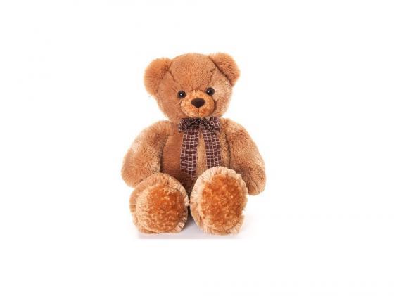 Фото Мягкая игрушка медведь Aurora Медведь мягкий с бантом 69 см коричневый плюш синтепон