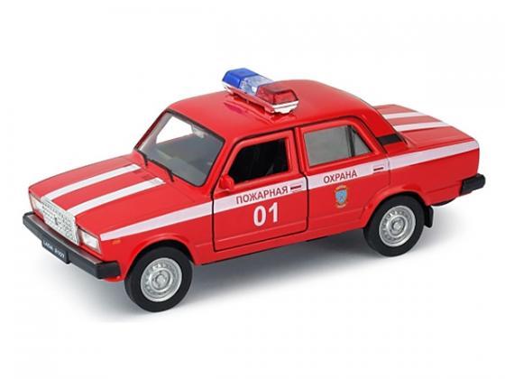 Автомобиль Welly LADA 2107 Пожарная охрана 1:34-39 красный 43644FS автомобиль welly hundai tucson 1 34 коричневый 43718