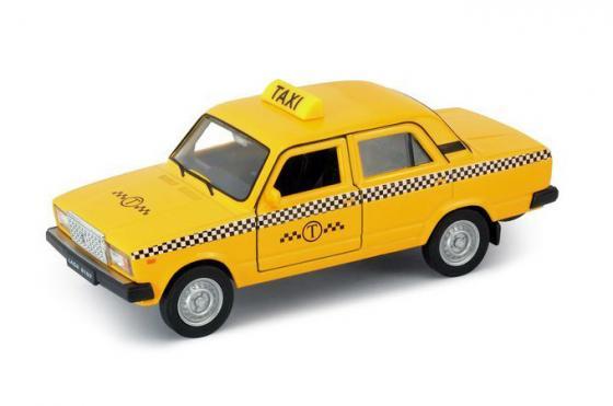 Автомобиль Welly LADA 2107 Такси 1:34-39 желтый 43644TI автомобиль welly lada kalina такси 1 34 39 42383