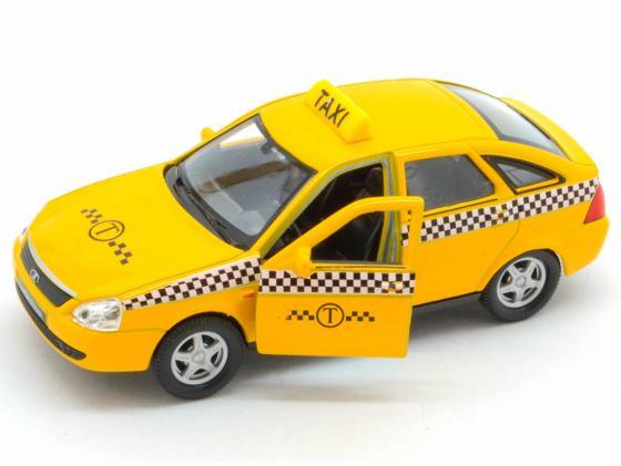 Автомобиль Welly LADA PRIORA Такси 1:34-39 желтый 43645TI erich krause набор тетрадей родные просторы пруд 24 листа в линейку 10 шт
