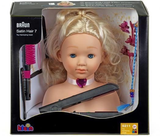 Игровой набор KLEIN Модель для причесок с утюжком для выпрямления волос 5245 klein модель для причесок с утюжком для волос braun