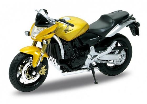 Мотоцикл Welly Honda Hornet 1:18 желтый 12830P welly мотоцикл honda hornet