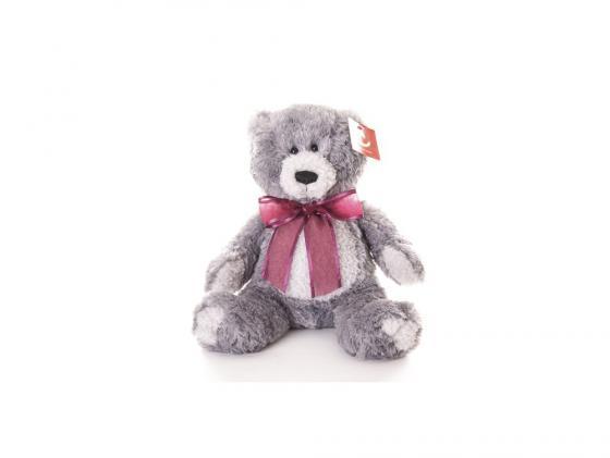 Мягкая игрушка медведь Aurora Медведь серый 30 см серый плюш
