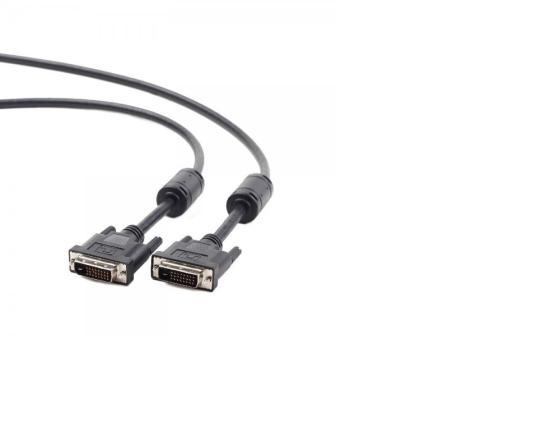 Кабель DVI-DVI 1.8м Dual Link Gembird экранированный ферритовые кольца черный CC-DVI2-BK-6 аксессуар gembird cablexpert dvi d single link 19m 19m 1 8m black cc dvi bk 6