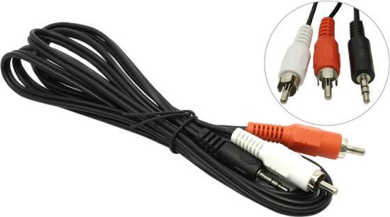 Кабель соединительный 2.0м 5bites 3.5 Jack (M) - 2xRCA (M) стерео аудио AC35J2R-020M кабель соединительный 0 5м hama 3 5 jack m 3 5 jack m позолоченные контакты черный 00173871