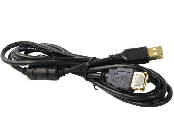 Кабель USB 2.0 AM-AF 1.8м 5bites ферритовые кольца черный UC5011-018A все цены