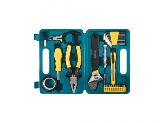 Набор инструментов Fit в пластмассовом кейсе 26шт 65125 набор ручных инструментов fit 65139